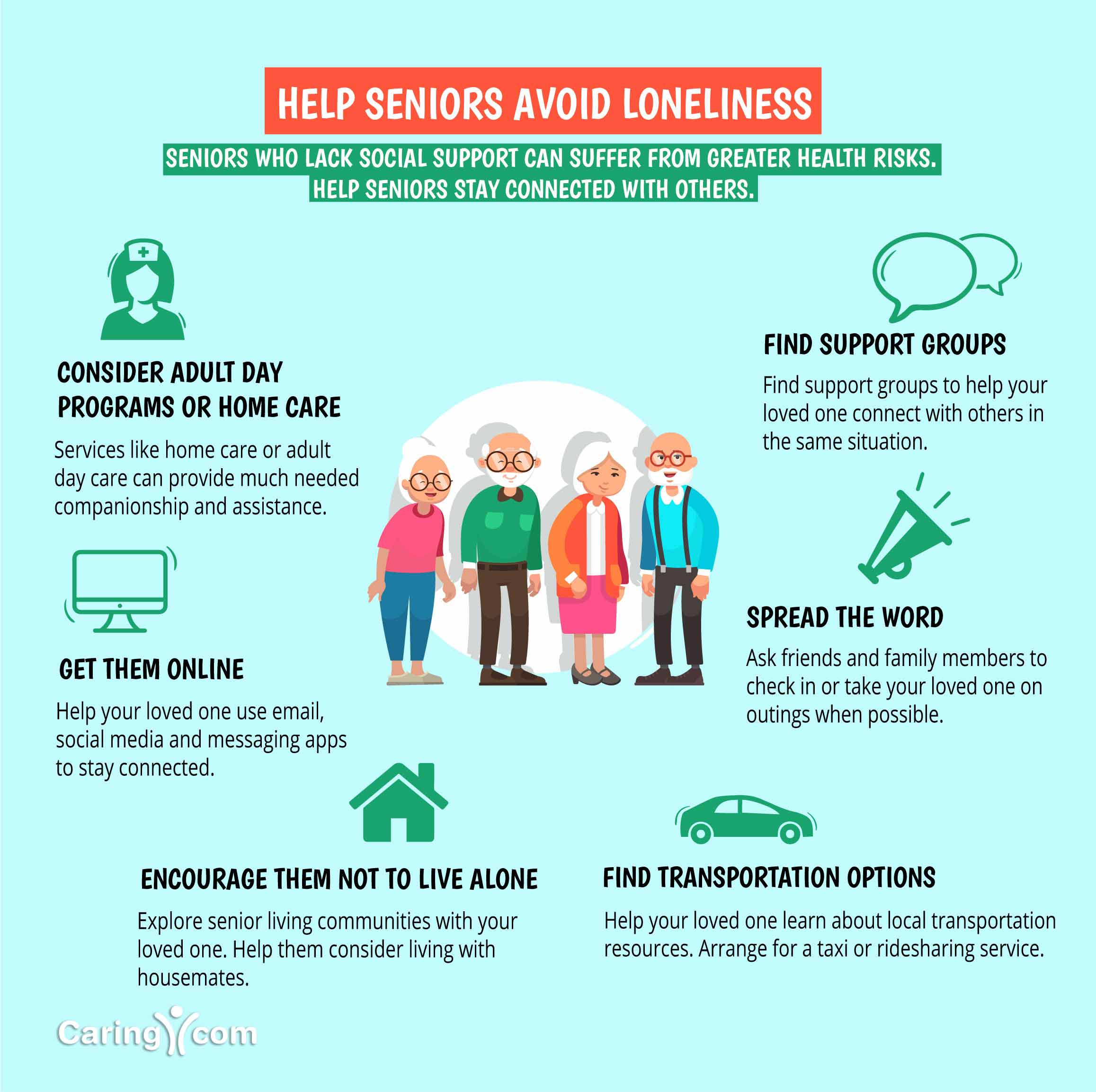 Help seniors avoid loneliness