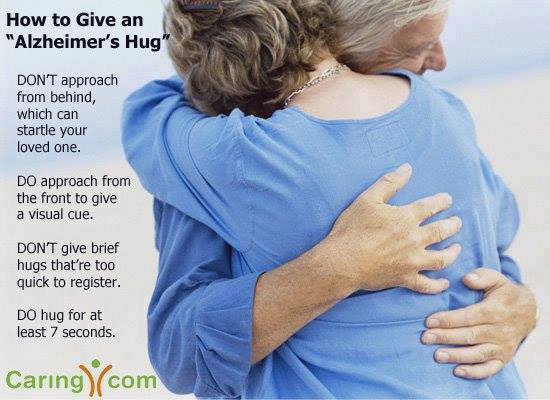 How to Give an Alzheimer's Hug