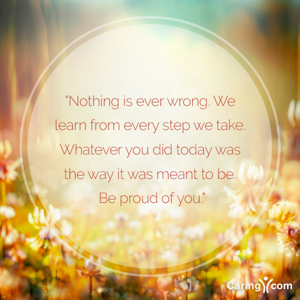 Inspirational Quote: Be Proud of You