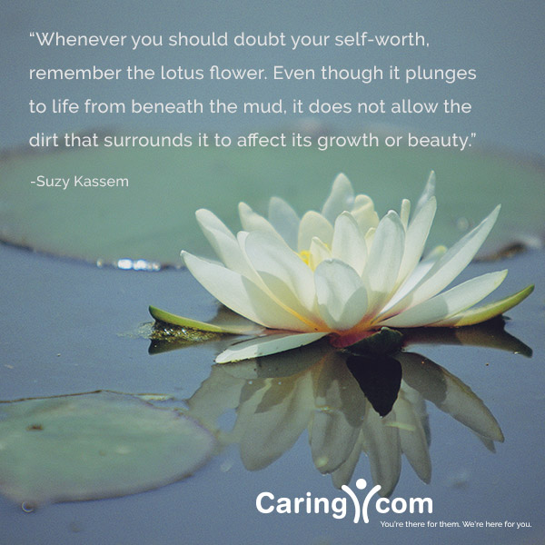 Inspirational quote from Suzy Kassem