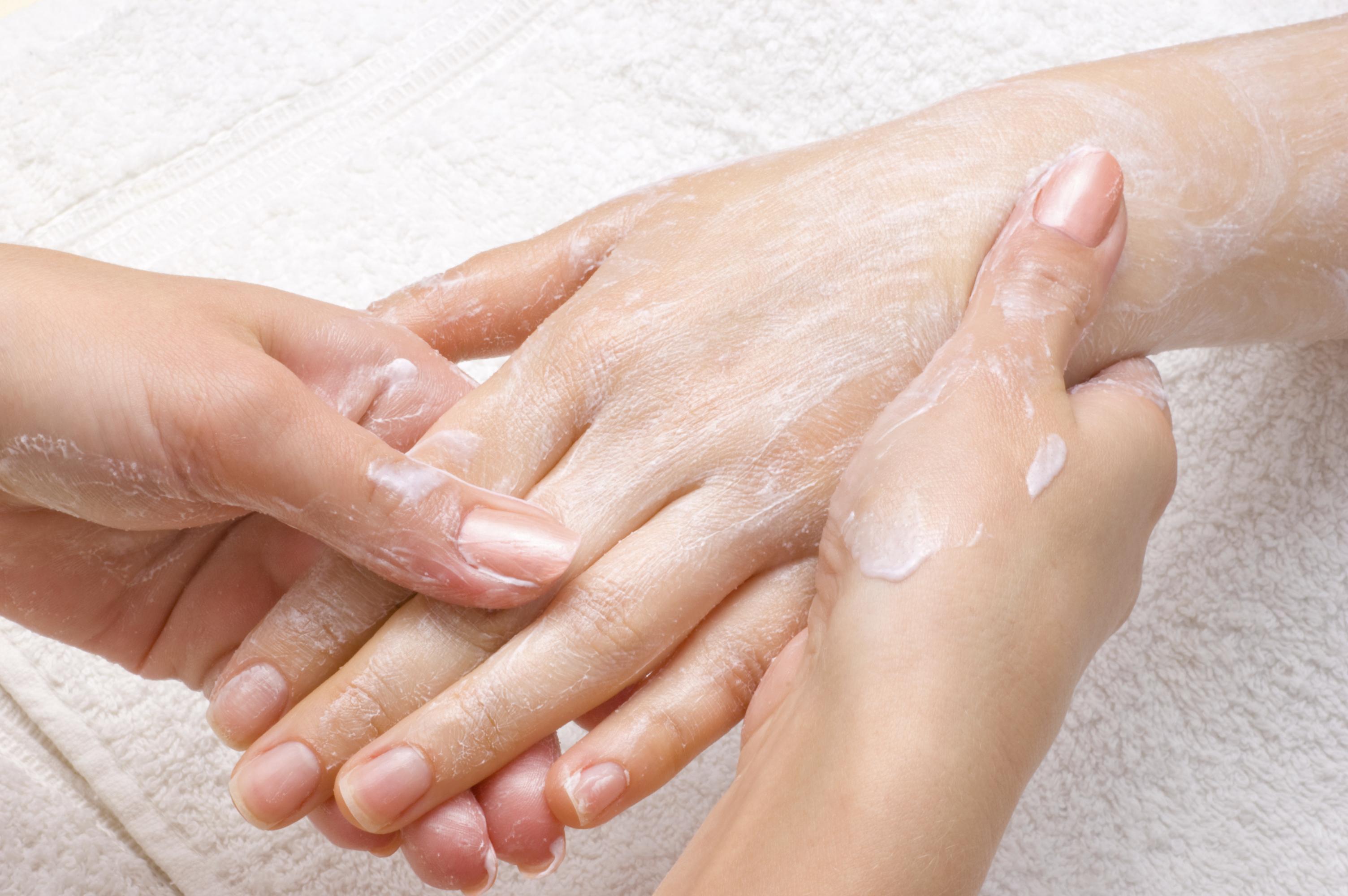 peeling or moisturizing procedure